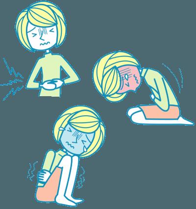 Kraftiga smärtor i magen